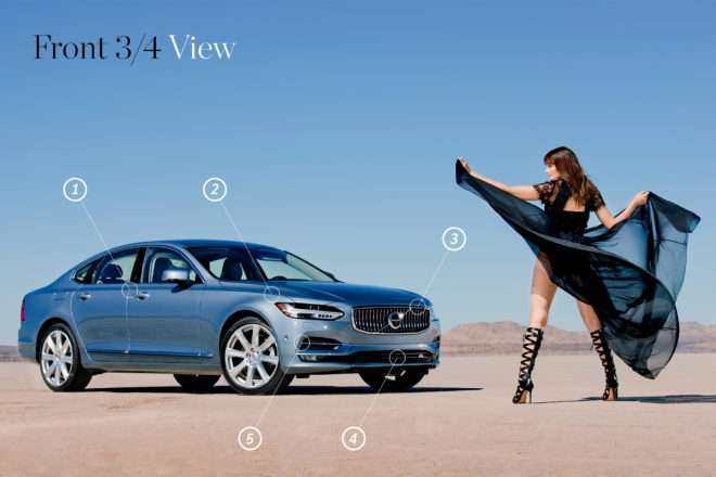 2017 Volvo S90 Design of the Year front three quarter
