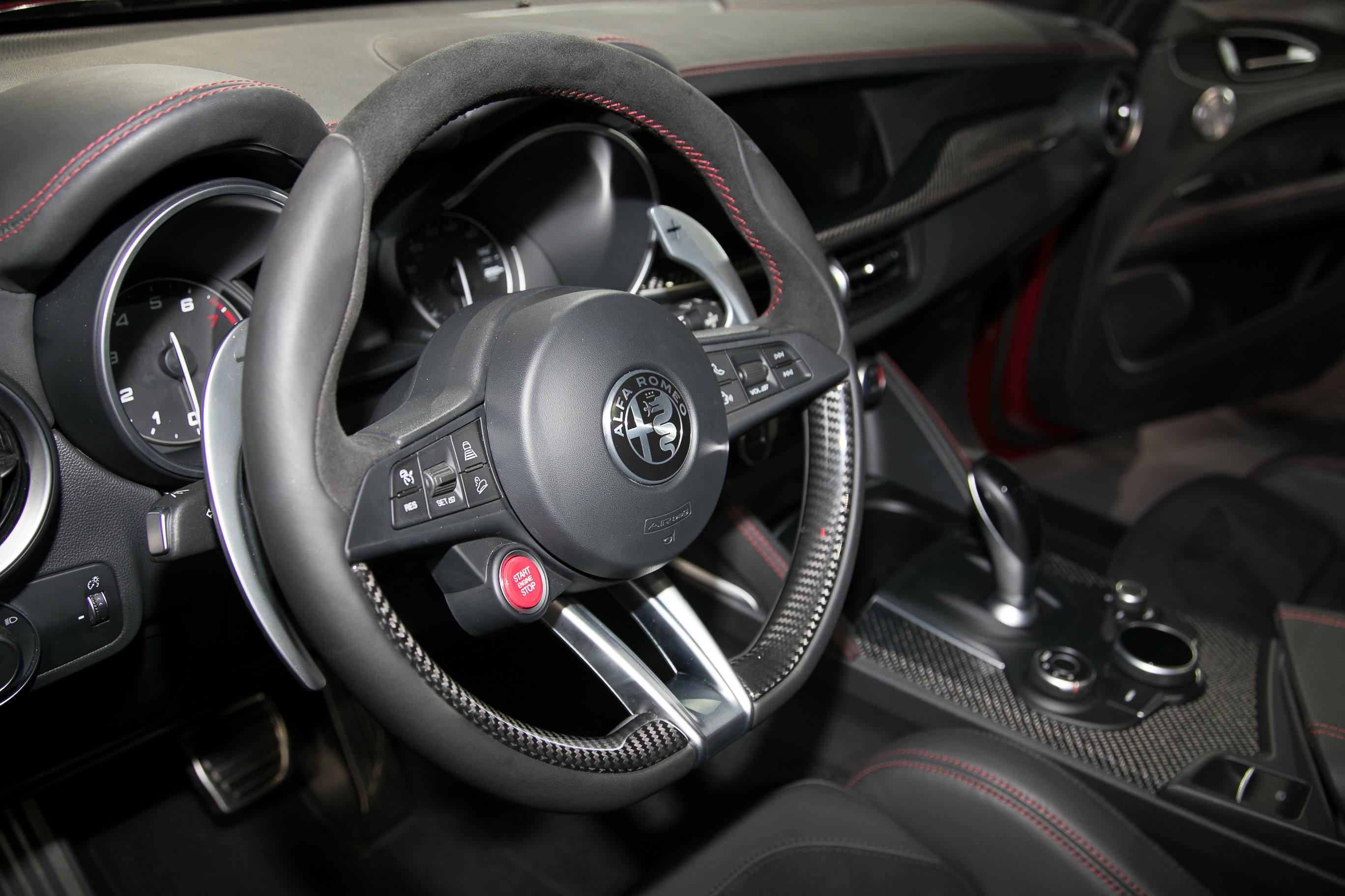 2018 Alfa Romeo Stelvio First Look Automobile Magazine Steering Wheel Show More