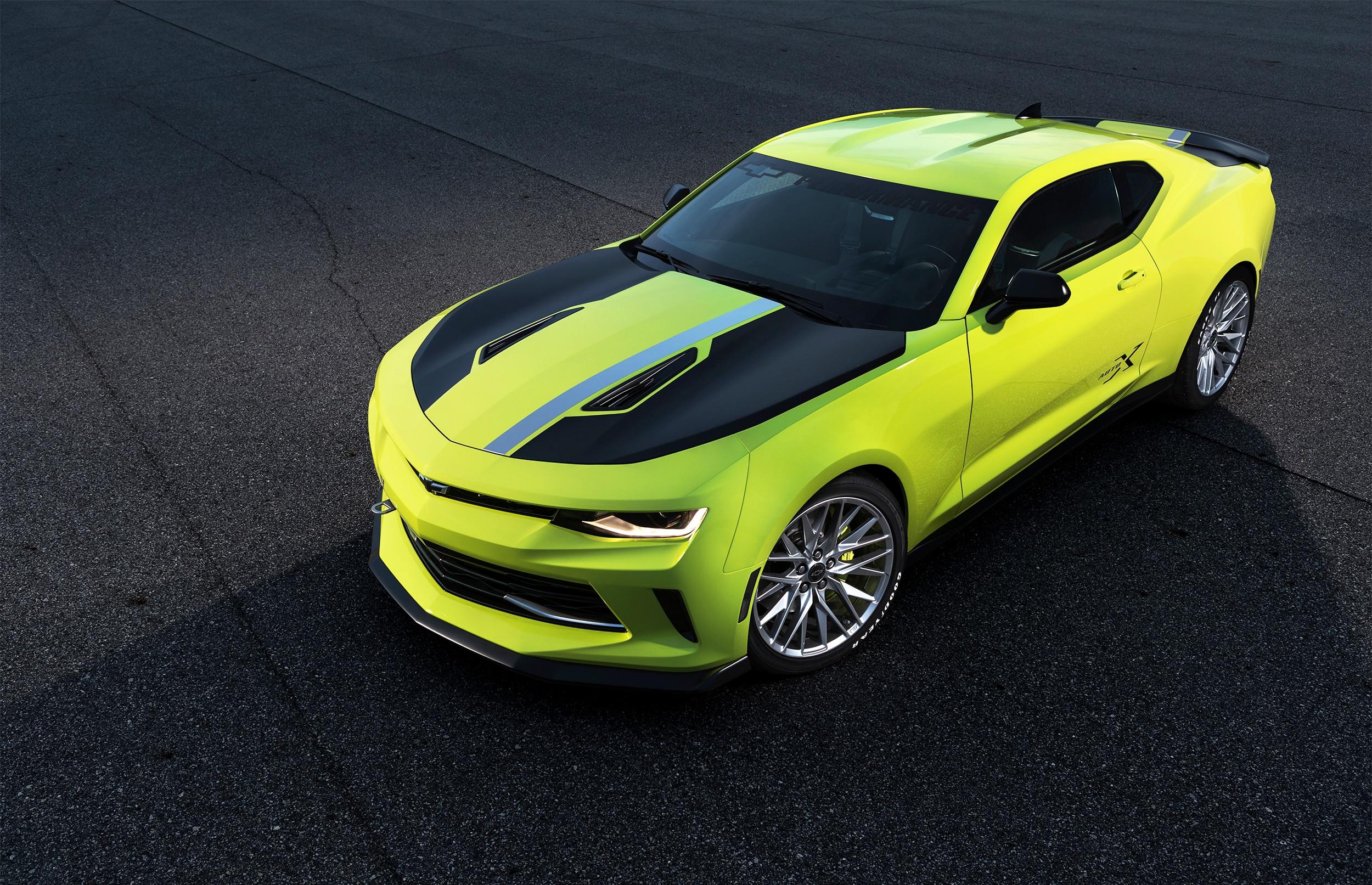 Chevrolet Camaro Turbo AutoX Concept 2016 SEMA Top View