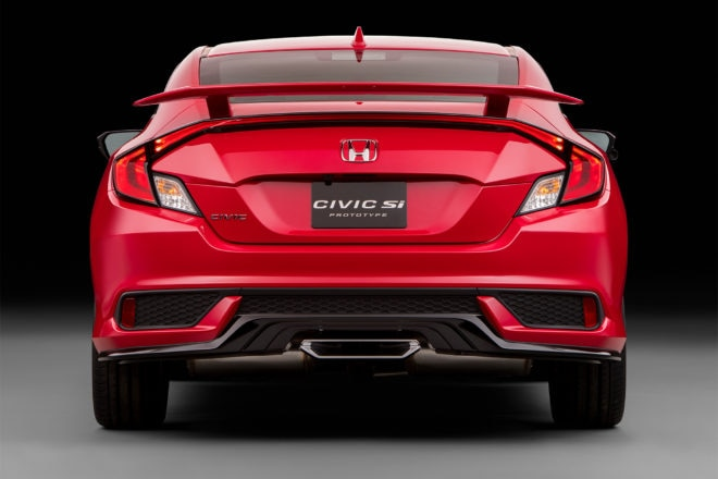 Honda Civic Si Coupe prototype rear view
