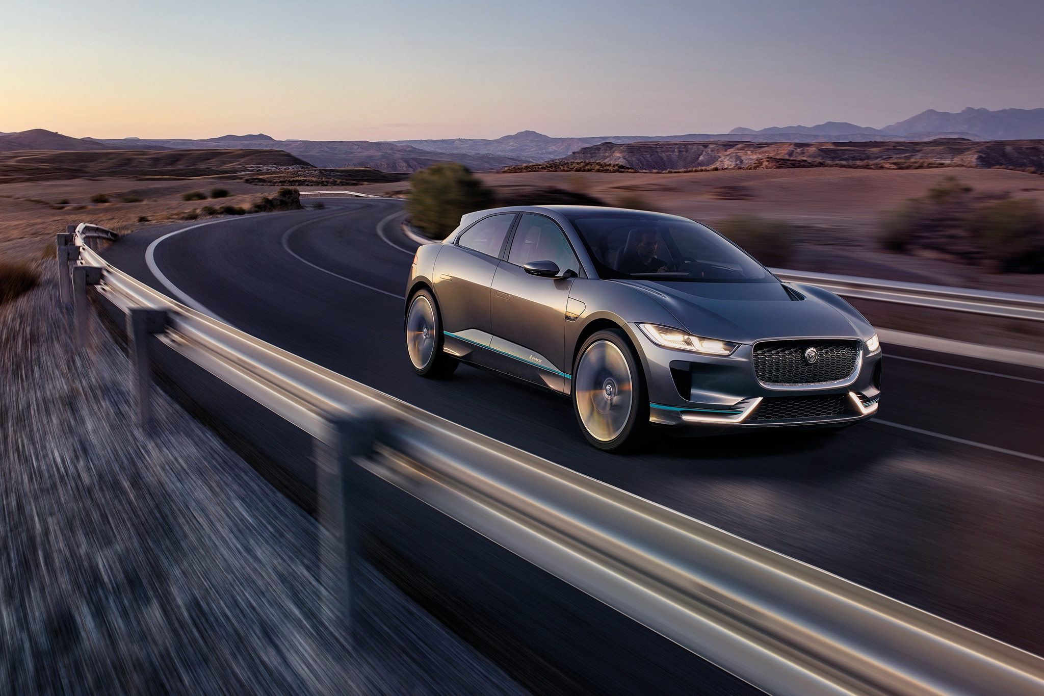 Jaguar I Pace Concept Front Three Quarter In Motion 07