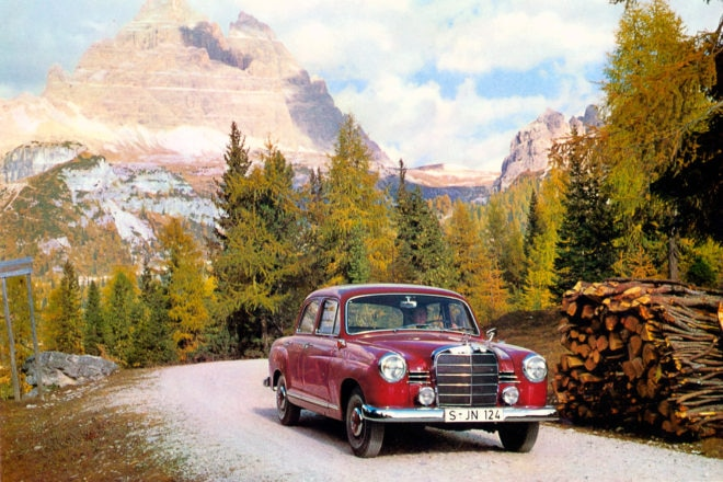 Mercedes Benz W120 W121 Front Three Quarter Painting
