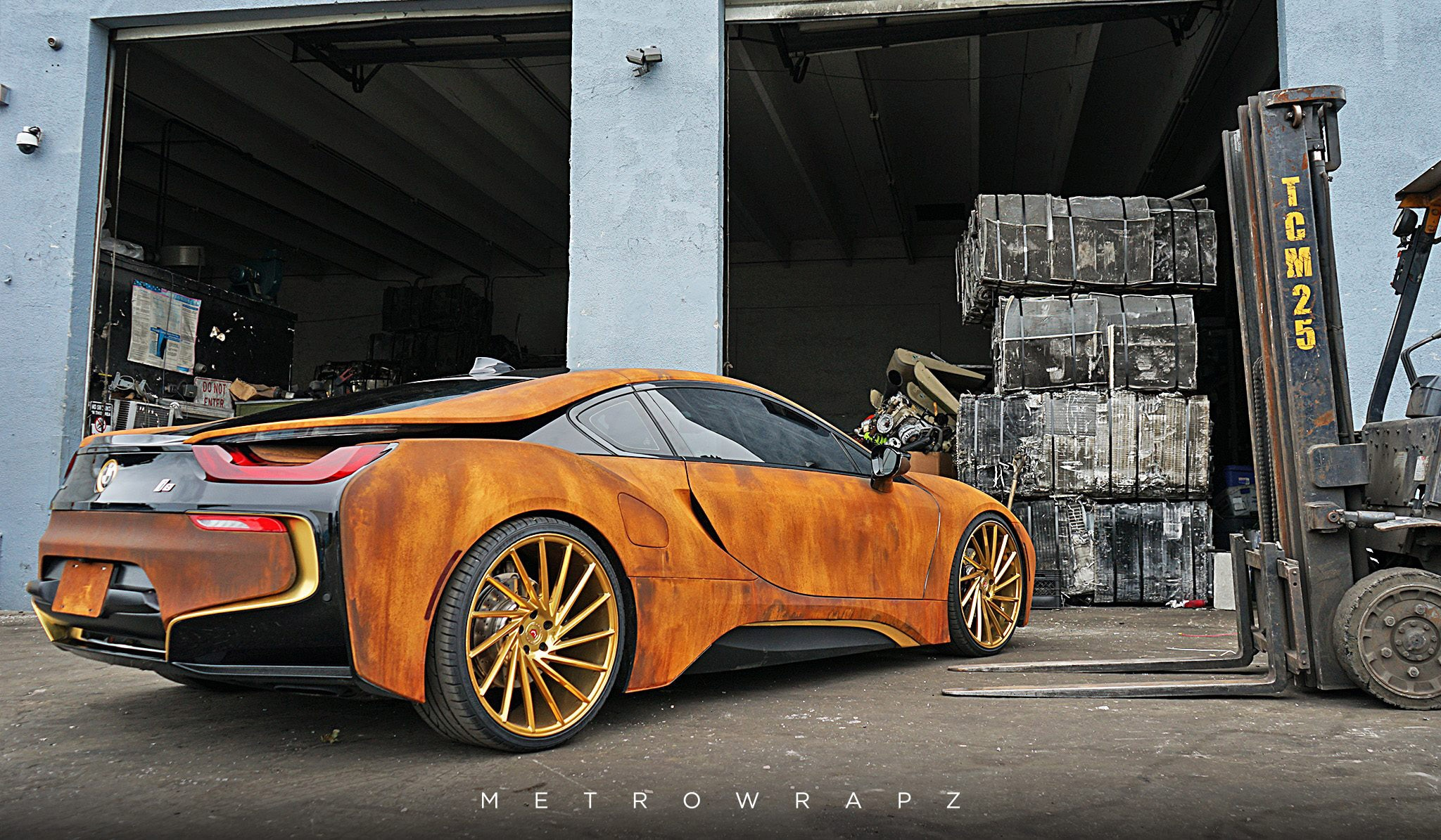 Rust Wrapped Bmw I8 Looks Like The Real Deal Automobile Magazine