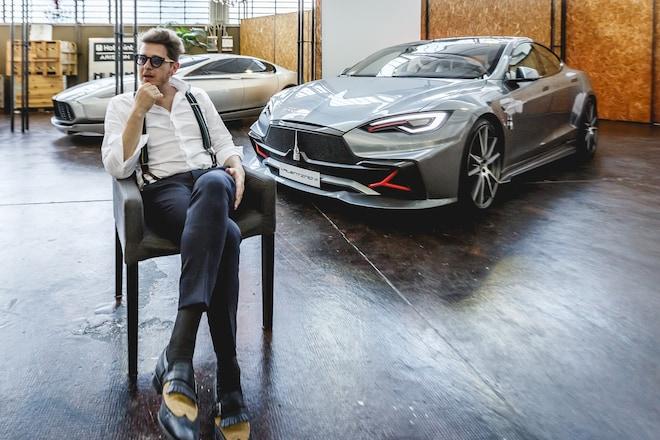 Umberto Palermo And Valentino Tesla Model S 02