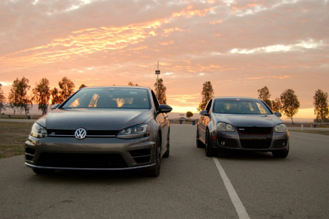 2016 Volkswagen Golf R with GTI
