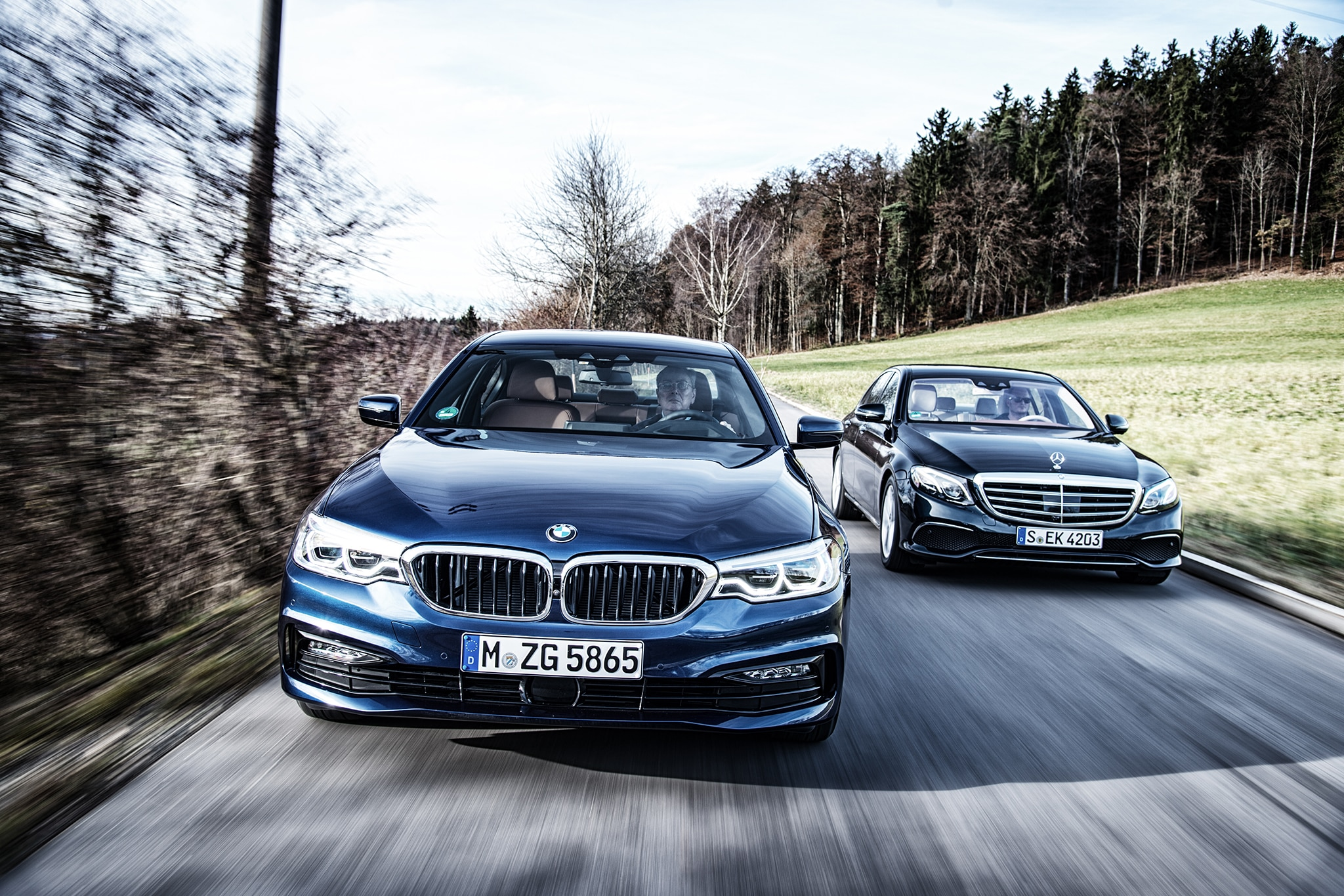 2017 Bmw 530d Xdrive Vs 2017 Mercedes Benz E350d