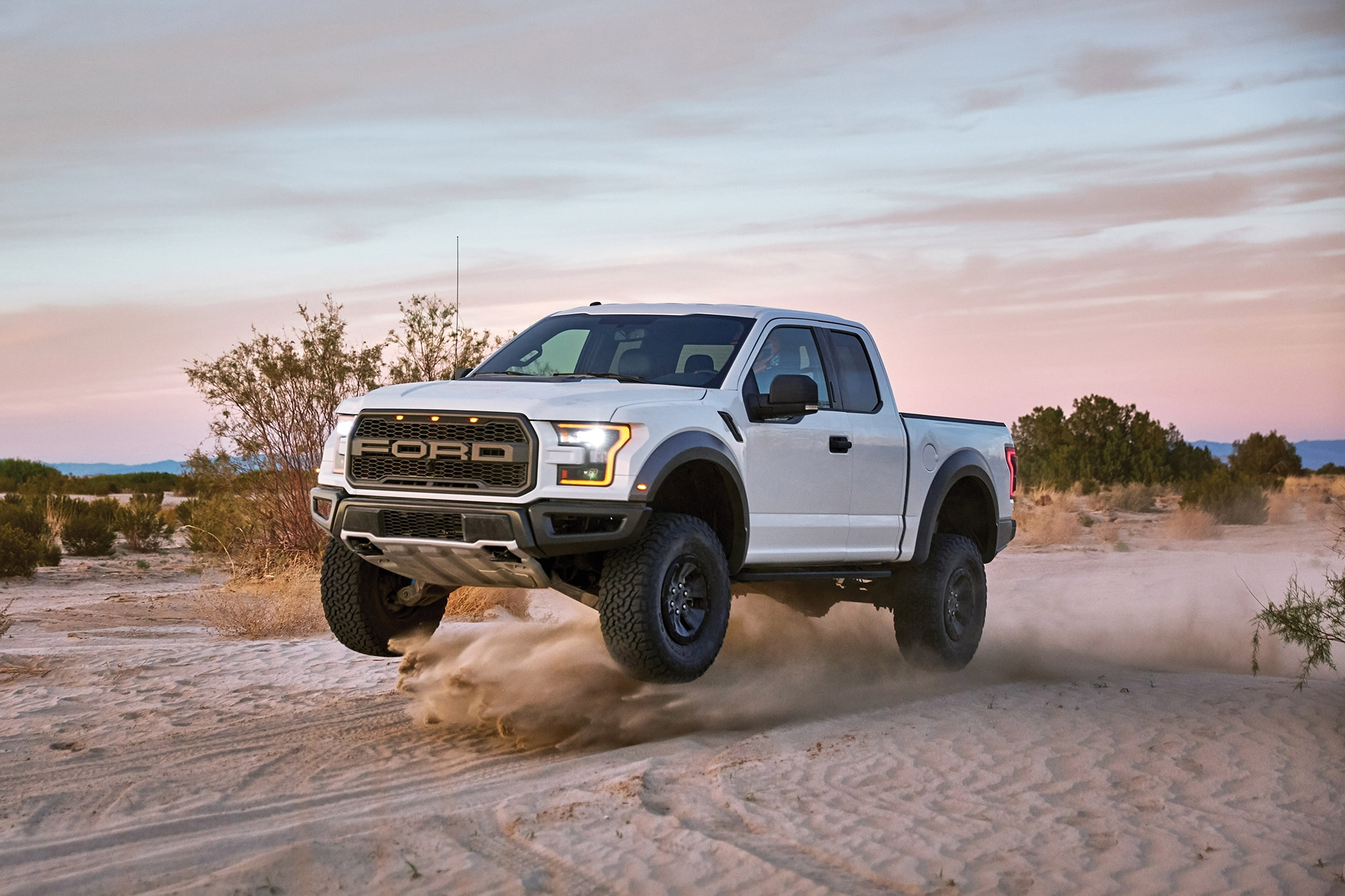 2017 Ford F 150 Raptor Front Three Quarter In Motion