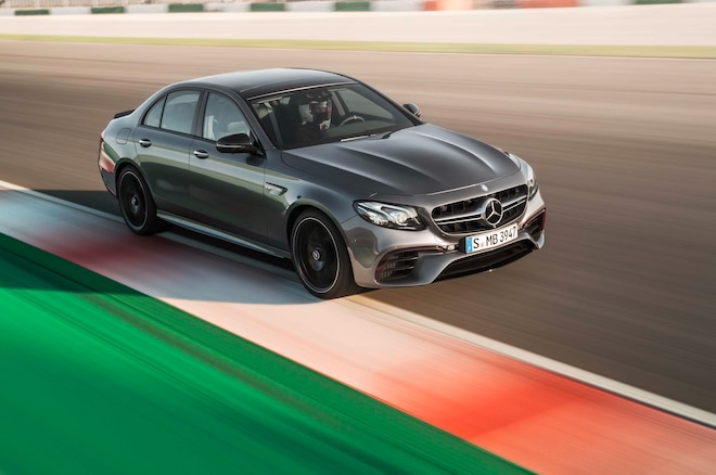 2018 Mercedes AMG E63 S Front Three Quarter In Motion 03
