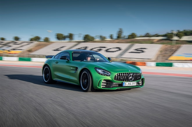 2018 Mercedes AMG GT R Front Three Quarter In Motion 07 1