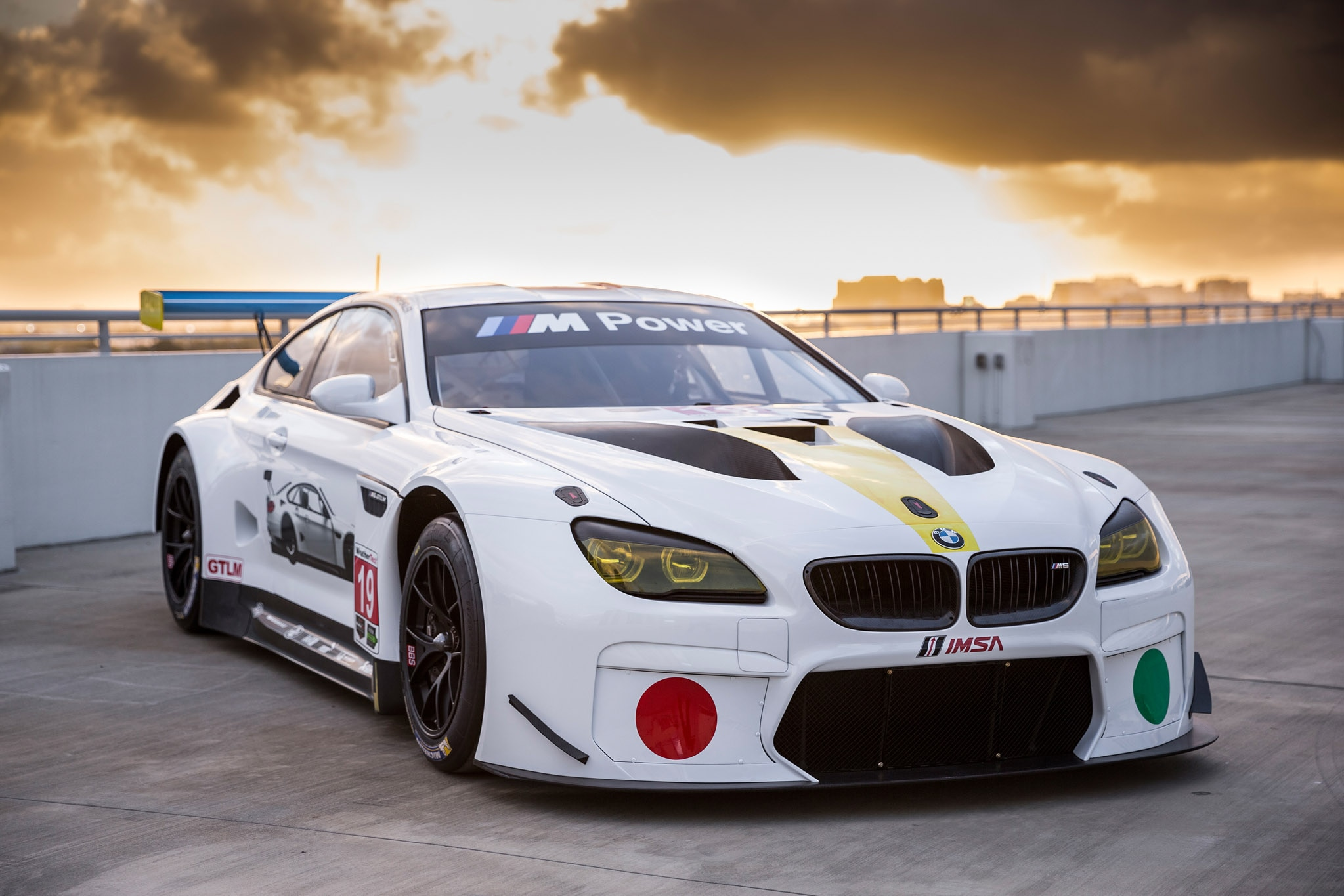 John Baldessari BMW M6 GTLM Front Three Quarter Track
