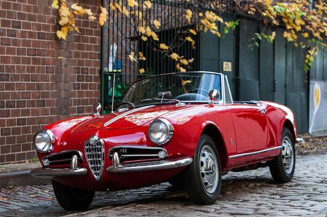 1962 Alfa Romeo Giulietta Spider Veloce Petrolicious Just Listed Front Three Quarters