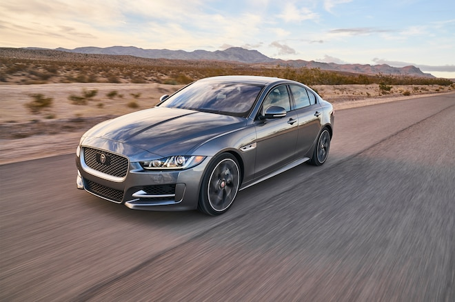 2017 Jaguar XE 35t R Sport Front Three Quarter In Motion 08