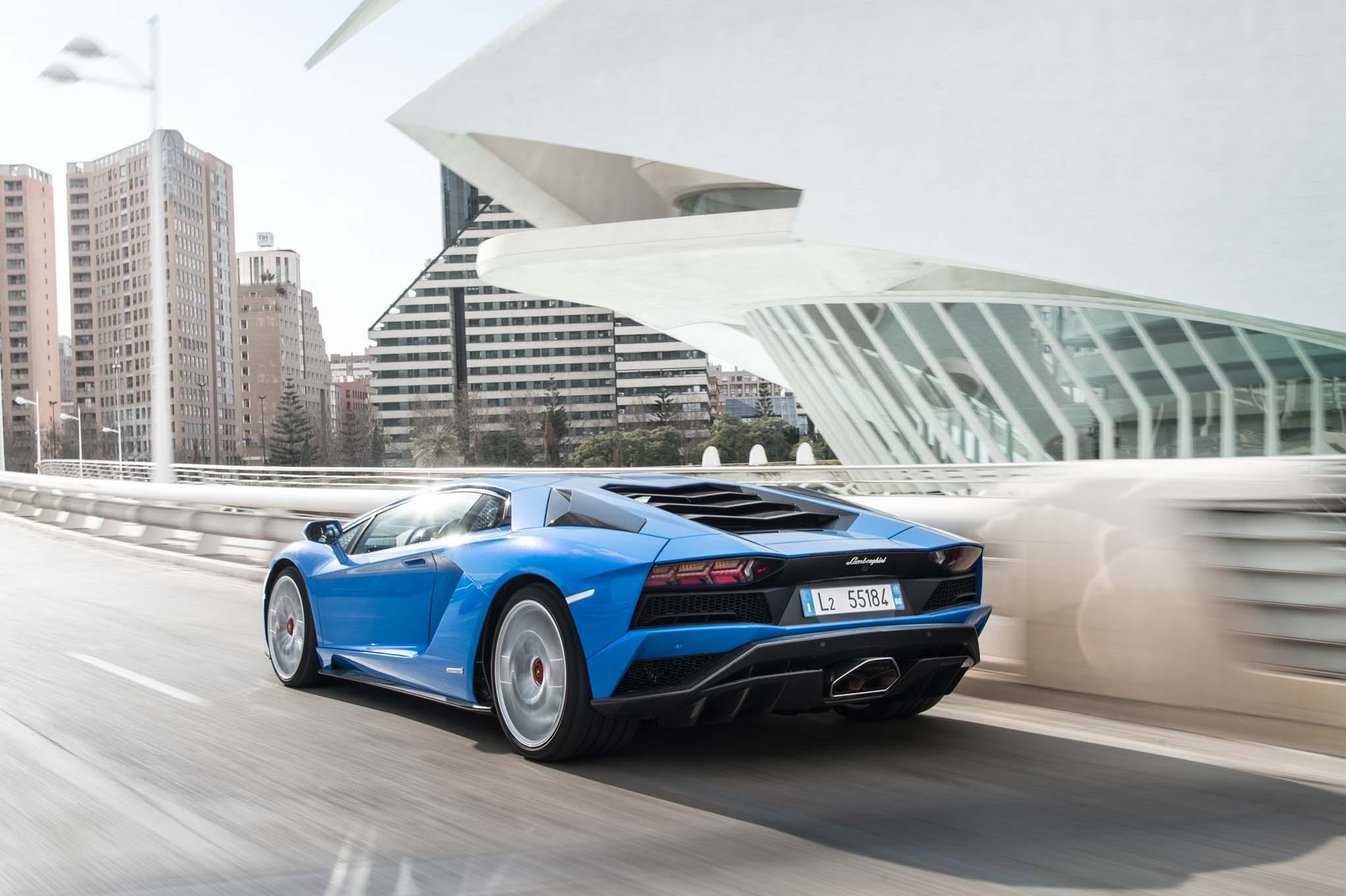 2018 Lamborghini Aventador S Rear Three Quarter In Motion 09