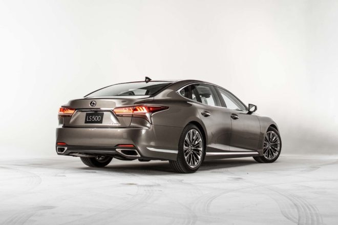 2018 Lexus LS 500 rear three quarter