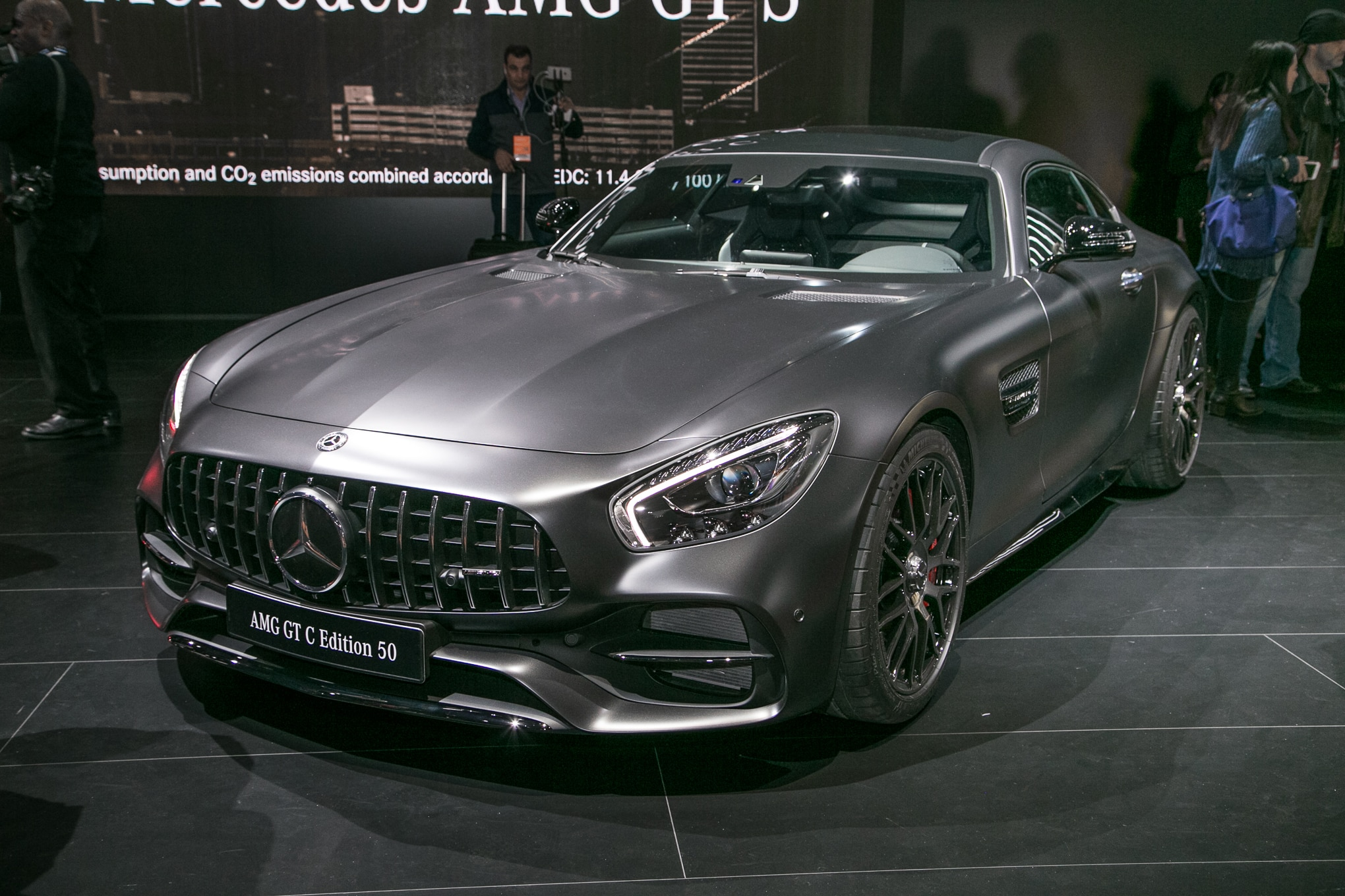 2018 Mercedes AMG GT C Coupe Edition 50 Front Three Quarter