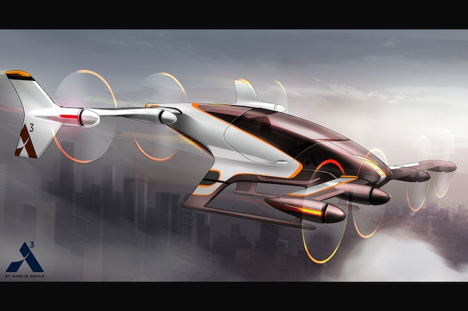 Airbus Vahana Flying Vehicle Concept