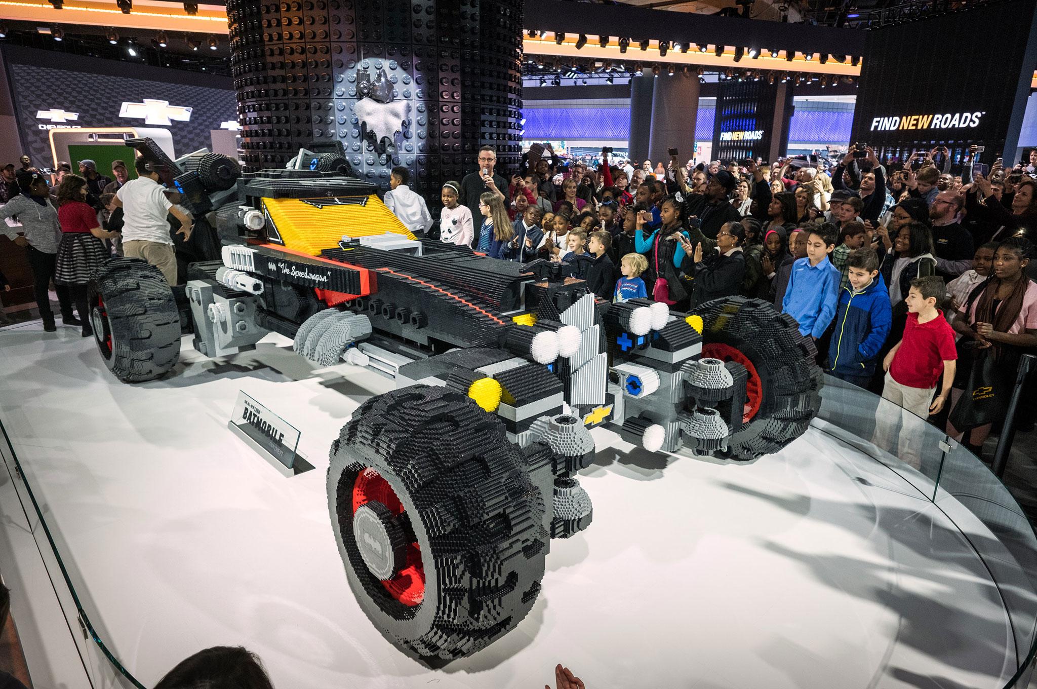 Chevrolet Introduces LifeSized Lego Batmobile At Detroit Auto Show - Autoshow
