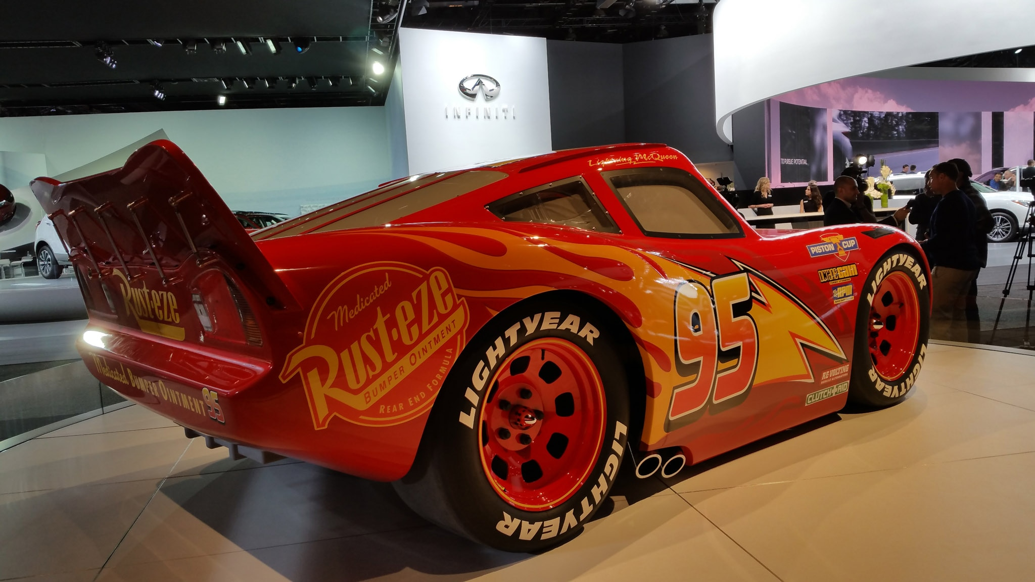 Lightning Mcqueen Debuts In Detroit Automobile Magazine