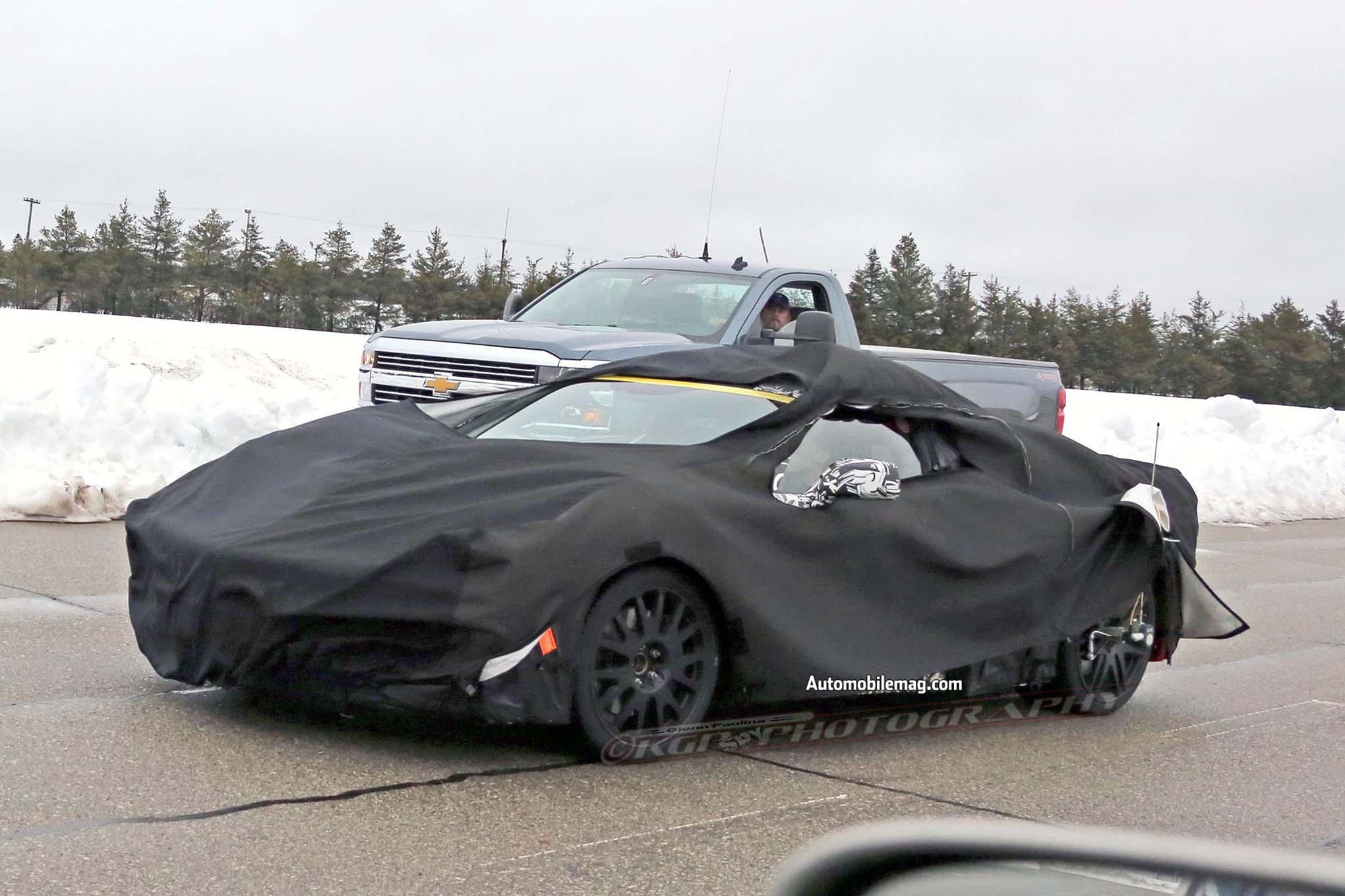 Mid-Engine Corvette Surfaces with ZR1 Prototypes   Automobile Magazine