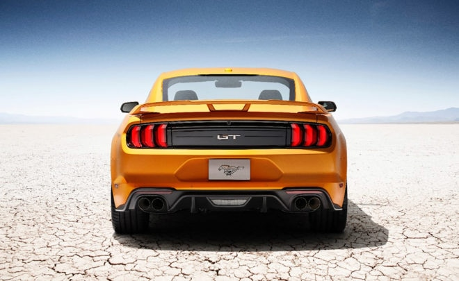 New Ford Mustang V8 GT with Performace Pack in Orange Fury 3
