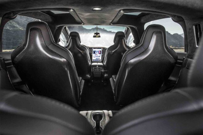 Unplugged Performance 2016 Tesla Model X 90D interior overview