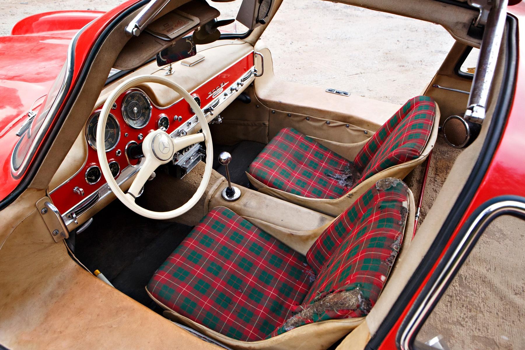 1955 Mercedes Benz 300SL Gullwing Interior