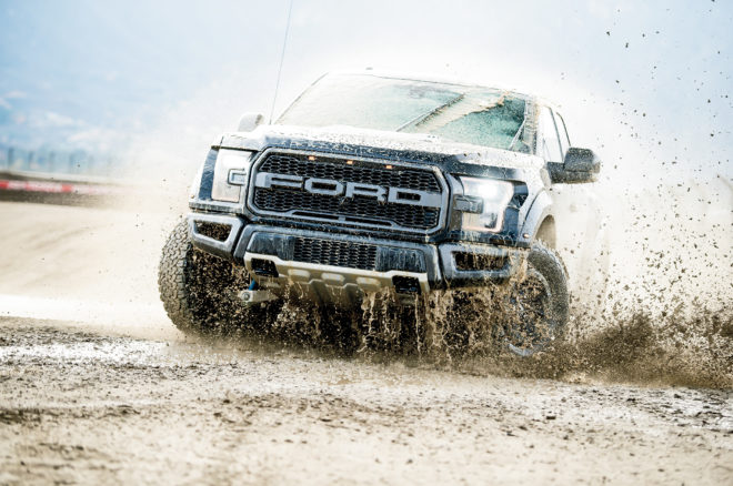2017 Ford Raptor rolling in the mud
