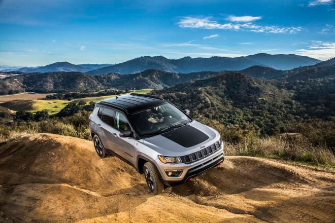 2017 Jeep Compass Trailhawk front view