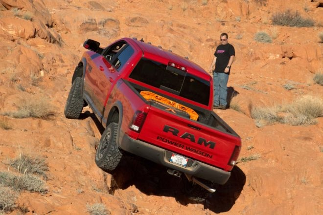 2017 Ram 2500 Power Wagon rear end uphill 02