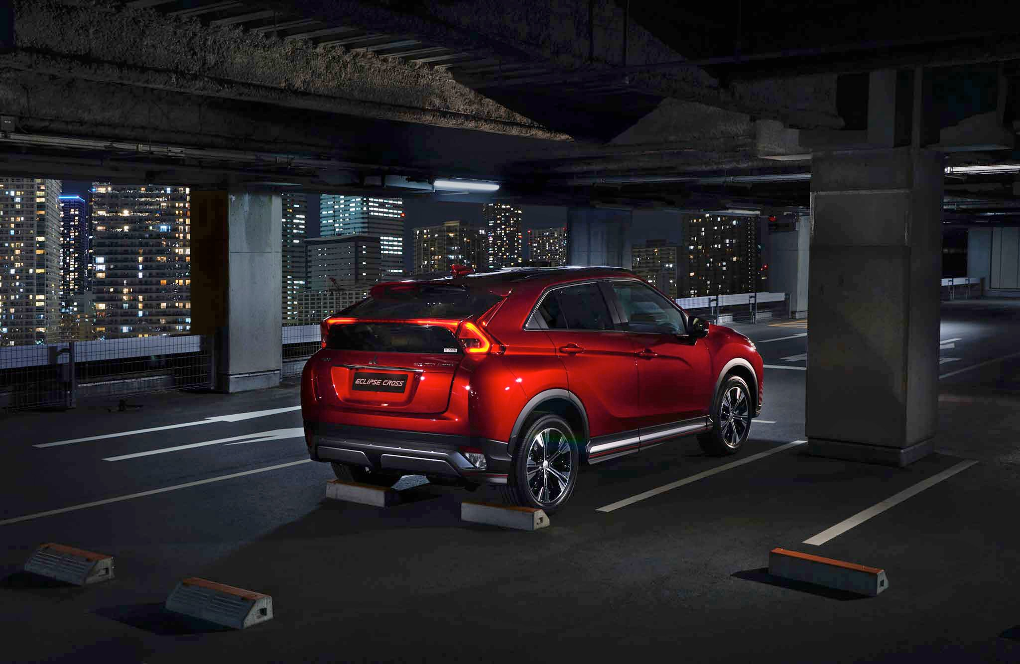 2018 Mitsubishi Eclipse Cross Rear Three Quarter Parked 1