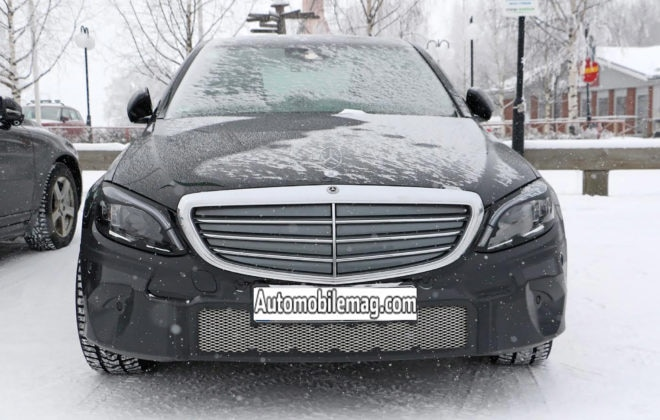 Mercedes Benz C Class Spy Shots Grille