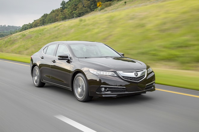 2017 Acura Tlx V6 Front Three Quarter In Motion 02