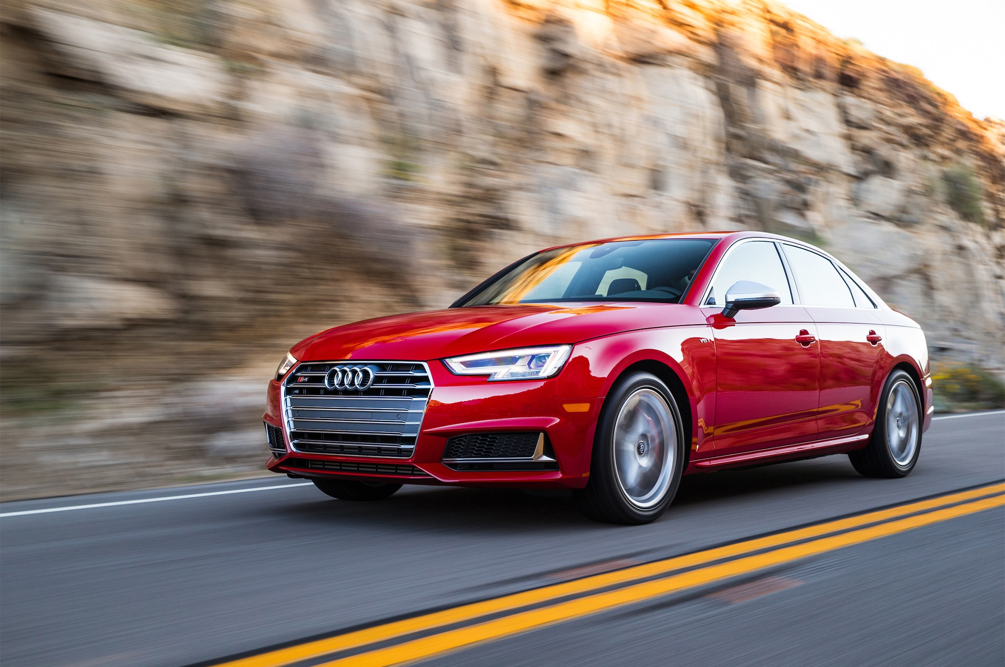2018 Audi S4 Front Three Quarter In Motion 02