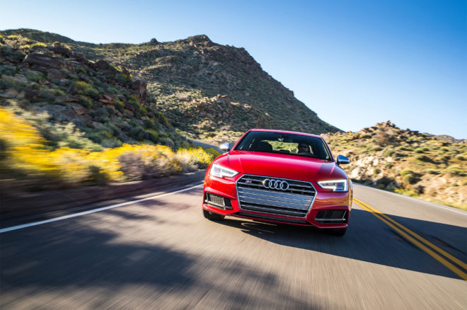 2018 Audi S4 front view in motion
