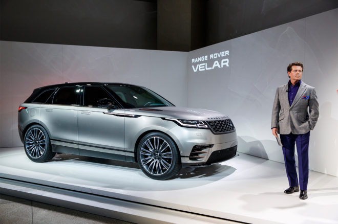 2018 Land Rover Range Rover Velar front three quarter 03