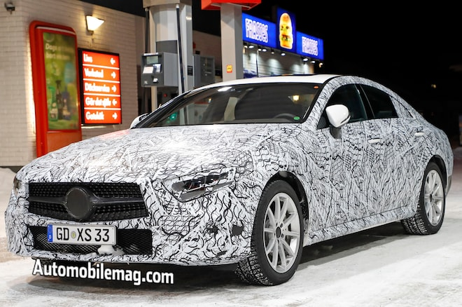 2019 Mercedes Benz CLS Spyshots Front Three Quarters