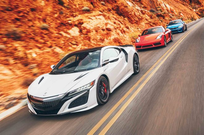Acura NSX 2017 All Star Winner front three quarter in motion
