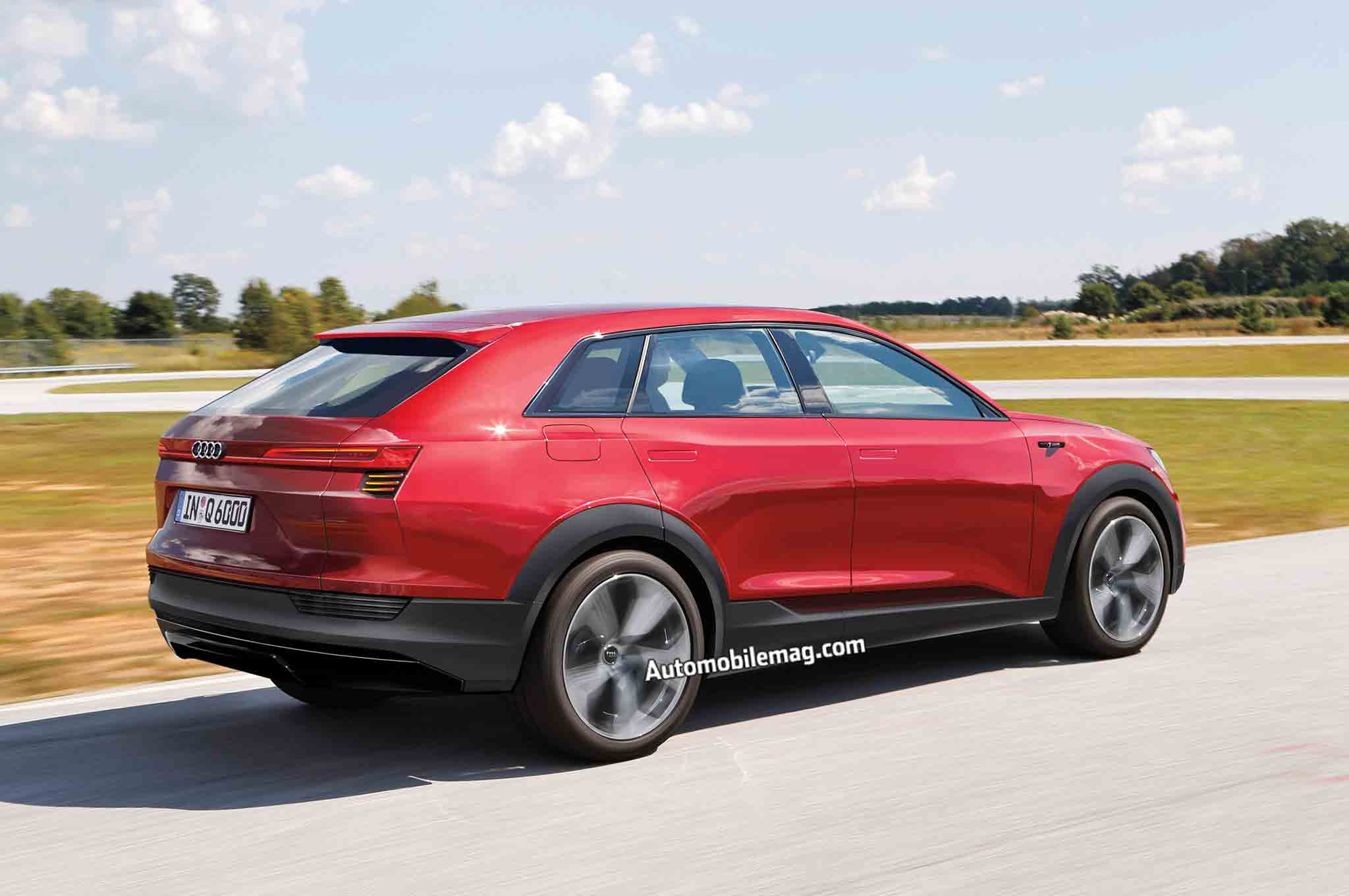 Audi EQ4 Rear Three Quarter In Motion