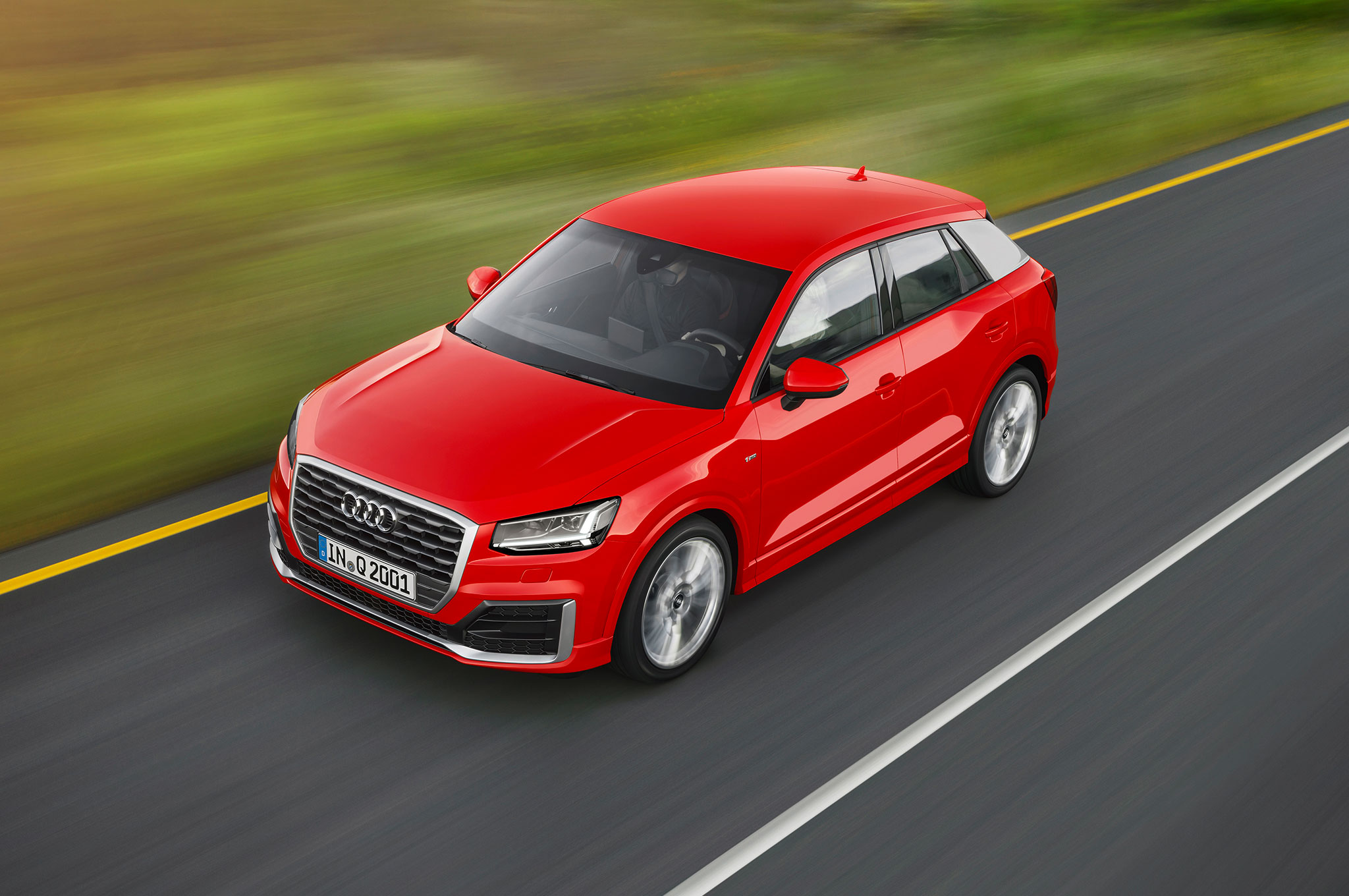 Audi Q2 Top View In Motion