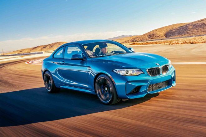 BMW M2 2017 All Star Winner front three quarter in motion