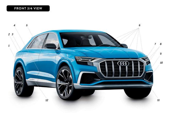 By Design Audi Q8 Concept front three quarter