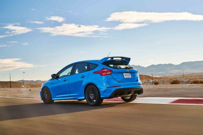 Ford Focus RS 2017 All Stars Contender rear three quarter in motion 02