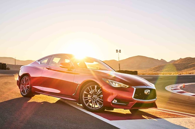 Infiniti Q60 Red Sport 400 2017 All Stars Contender Front Three Quarter