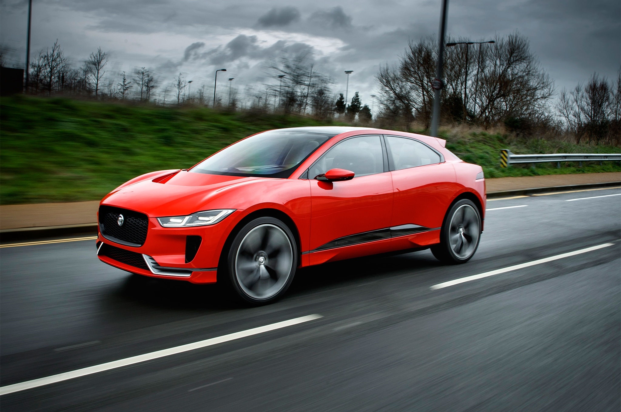 Jaguar I Pace Concept Front Three Quarter In Motion 03