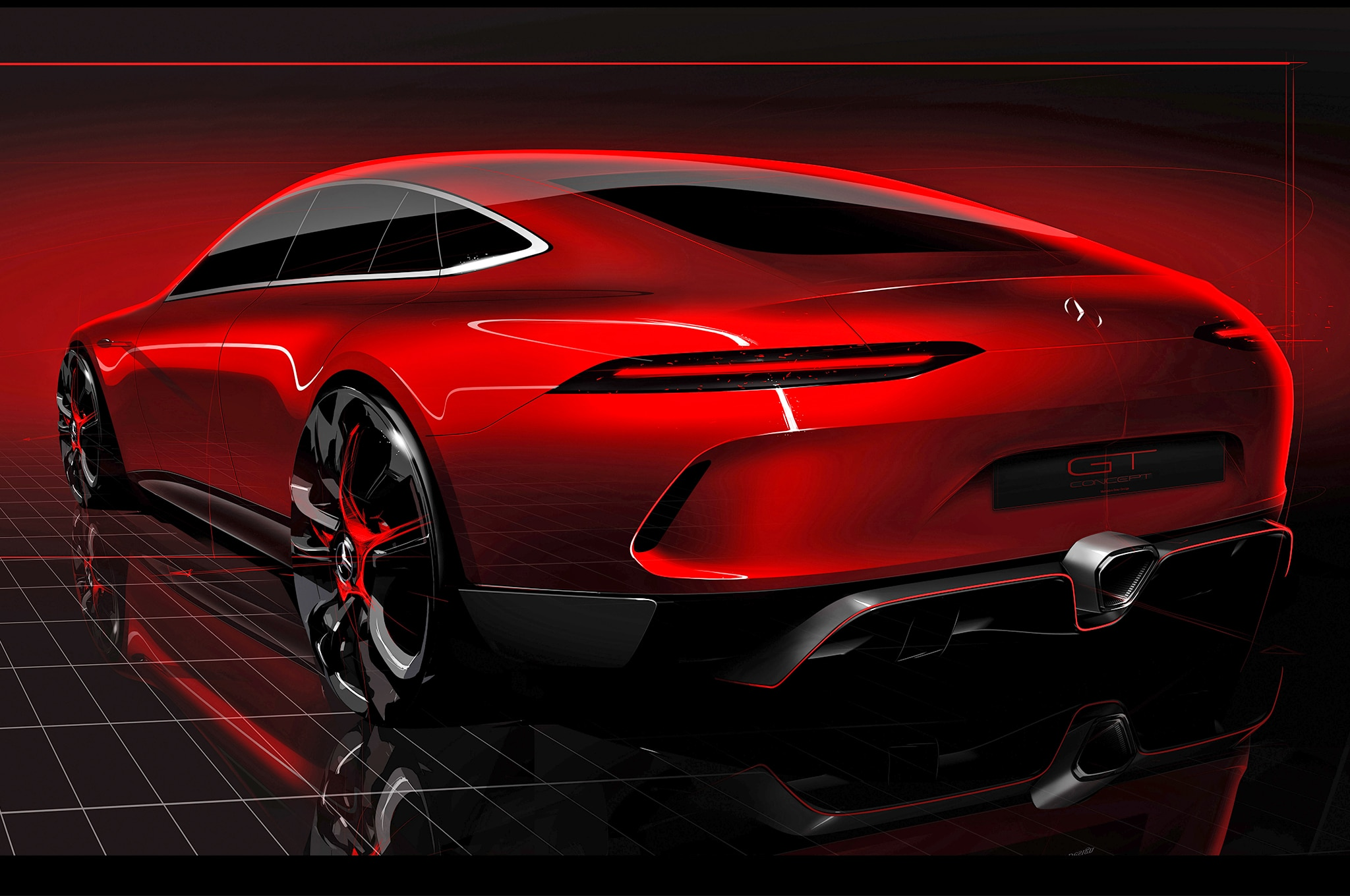 Hot Red Mercedes-AMG GT Concept Drops at 87th Geneva Motor ...