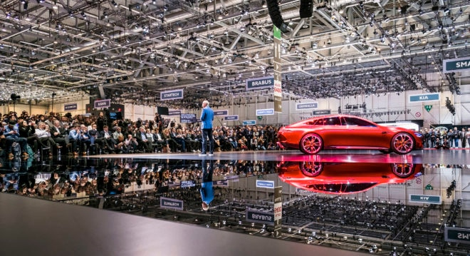 Mercedes Benz Cars at the 2017 Geneva International Motor Show Floor