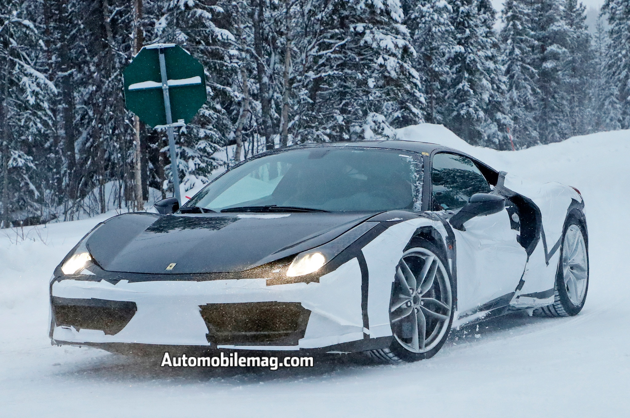 Spied Ferrari With 458 488 Elements Possible Dino 02