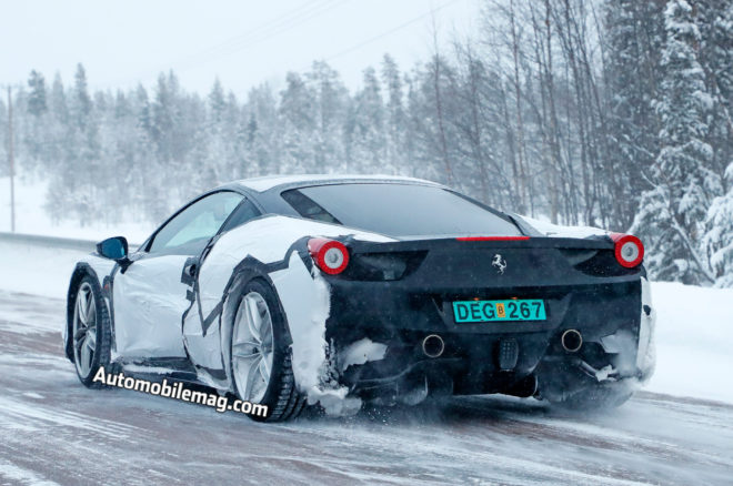 Spied Ferrari With 458 488 Elements Possible Dino 11