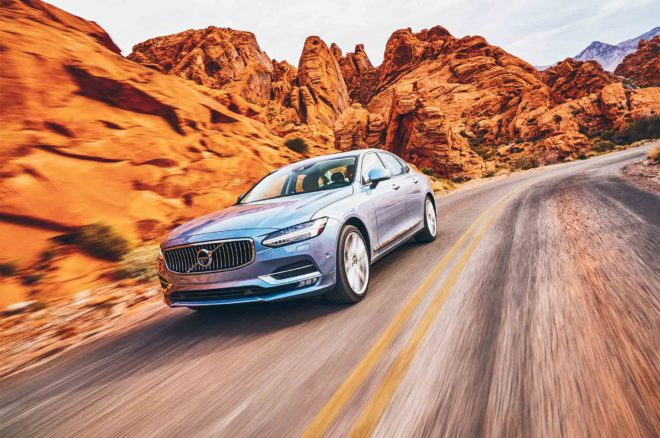 Volvo S90 2017 All Star Winner front three quarter in motion