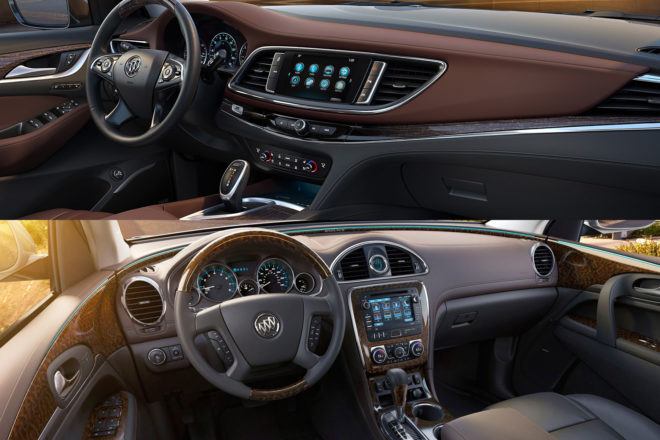 2013 2018 Buick Enclave Interior Comparison